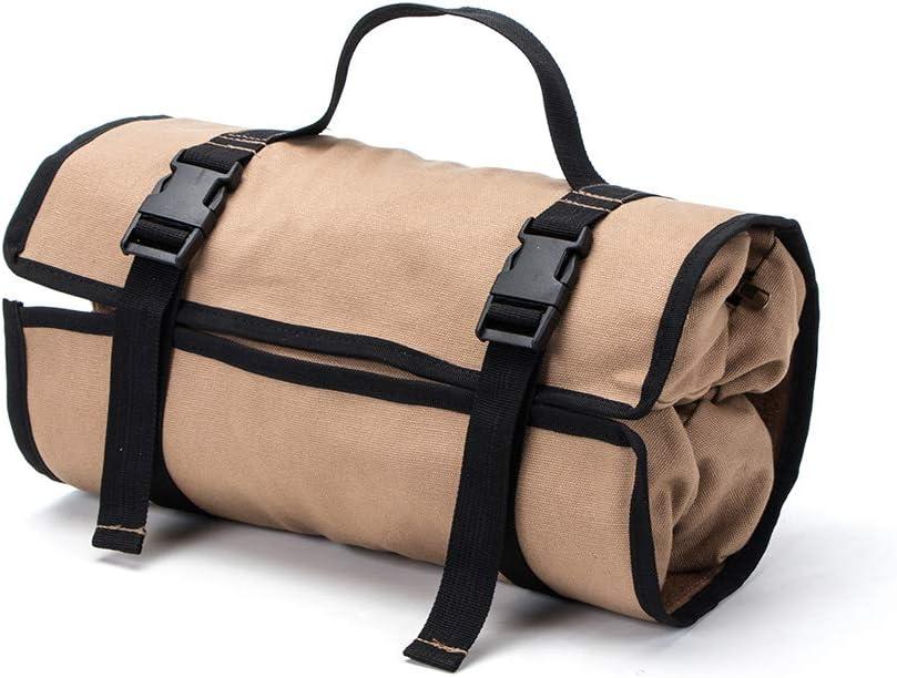 destornillador organizador de herramientas para la espalda llave Bolsa de herramientas enrollable de lona port/átil bolsa de soporte 5 bolsillos con cremallera silla de coche