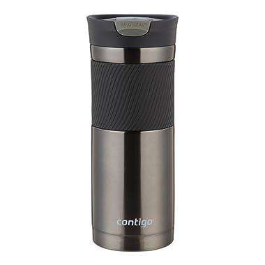 Contigo SNAPSEAL Byron Stainless Steel Travel Mug, 20 oz., Gunmetal