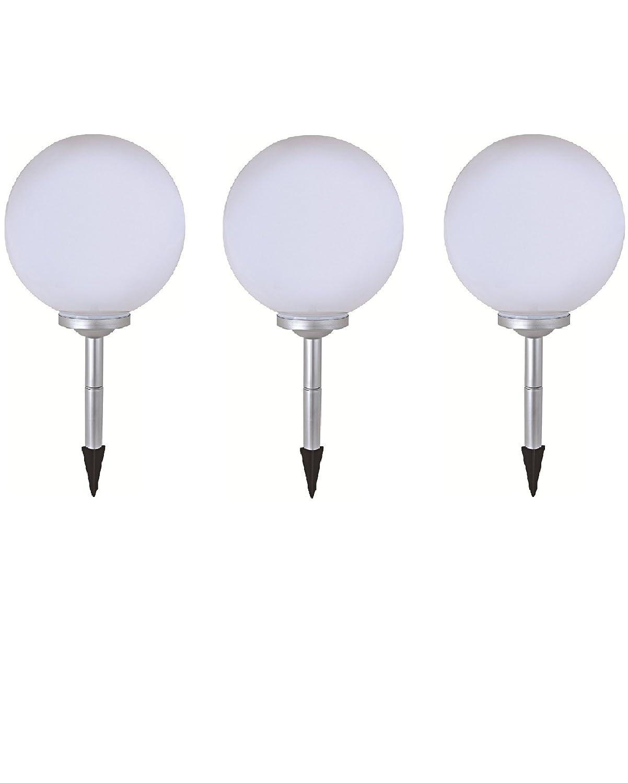 3 marla led solar ball light solar spherical light with ground spike diameter 20 cm decorative lights for garden balcony light amazon co uk lighting