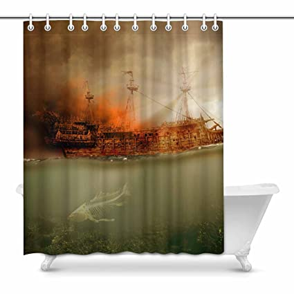 Image Unavailable Not Available For Color InterestPrint Shower Curtains Caribbean