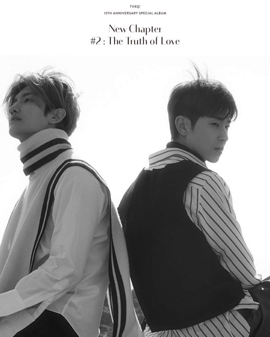 TVXQ! - 15th Anniversary Special Album [New Chapter #2:The Truth of Love] (Random version) Music CD + Folded Poster + Booklet + Postcard