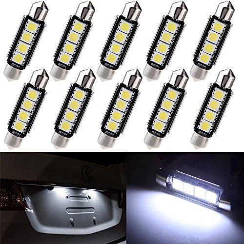 cciyu 10 Pack White 42mm Festoon Light Bulb 1.50