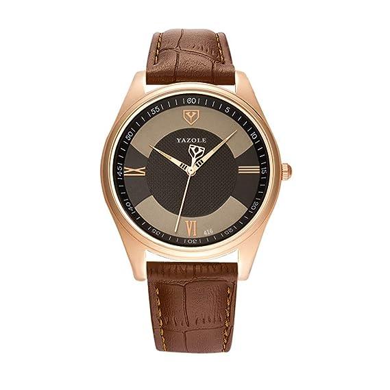 HWCOO Hermoso Relojes de Pulsera 416 yazole 2018 Reloj Reloj de Cuarzo Reloj de Cuarzo de los Hombres (Color : 2): Amazon.es: Relojes