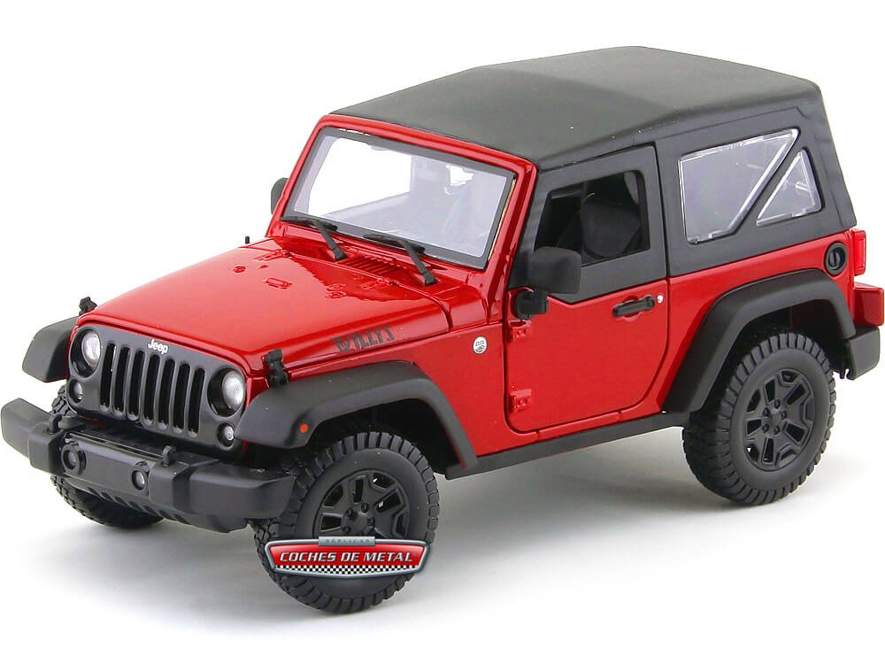2014 Jeep Willys Wrangler Rojo/Negro Maisto 31676R Cochesdemetal.es