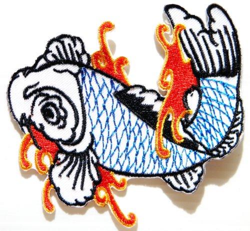 Japanese Cafe Costumes - Right White Japanese Koi Crap Fish