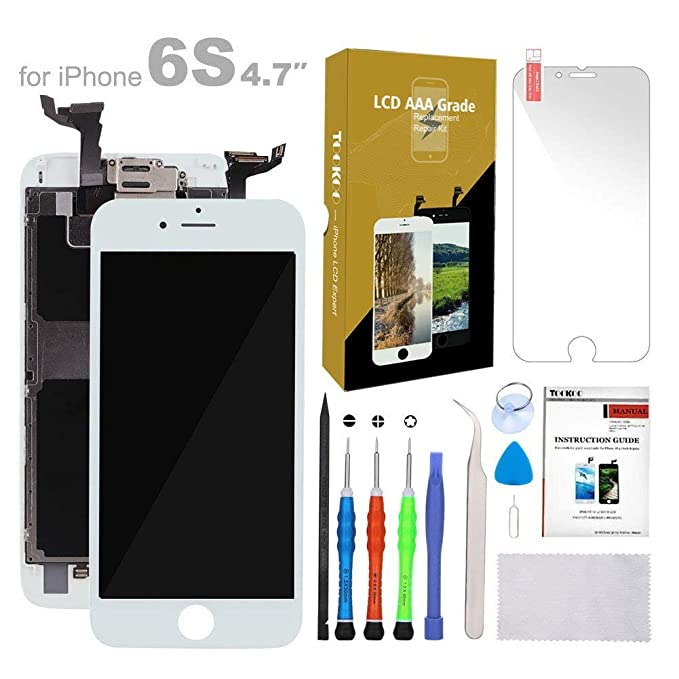 meet b9566 7313c Compatible with iPhone 6S Screen Replacement White 4.7