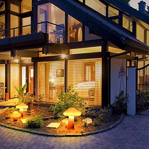 ZJJ Iluminación Decorativa de Setas LED para jardín, Exterior Impermeable césped Paisaje Linterna lámpara de Camino Recargable para Patio Entrada Fiesta Estanque Piscina: Amazon.es: Hogar