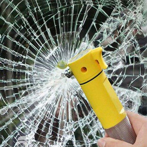 4 in 1 auto martello di fuga di emergenza salvavita martello taglia cinture di sicurezza protezione Tool LED avvertimento torcia vetro parabrezza martello kit per auto, autobus, outdoor emergenze EBILUN
