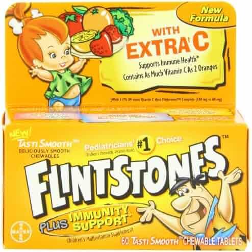 Flintstones Children's Multivitamin plus Immunity Support Chewable Tablets, 60-Count Bottle