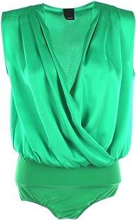 Pinko Body Donna Ines con Scollo incrociato-Verde-46