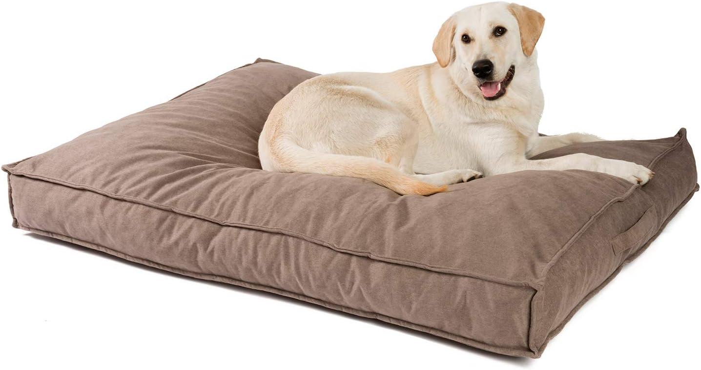 color gris Cama para perros con funda de tela PDB1007 Coj/ín para perros JAMAXX Premium S lavable funda extra/íble impermeable 65 x 50 copos de espuma viscoel/ástica ortop/édicos