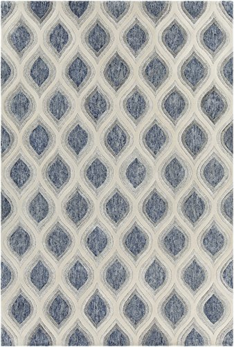 Chandra Rugs Clara Area Rug, 60-Inch by 90-Inch, Blue/Gray/White
