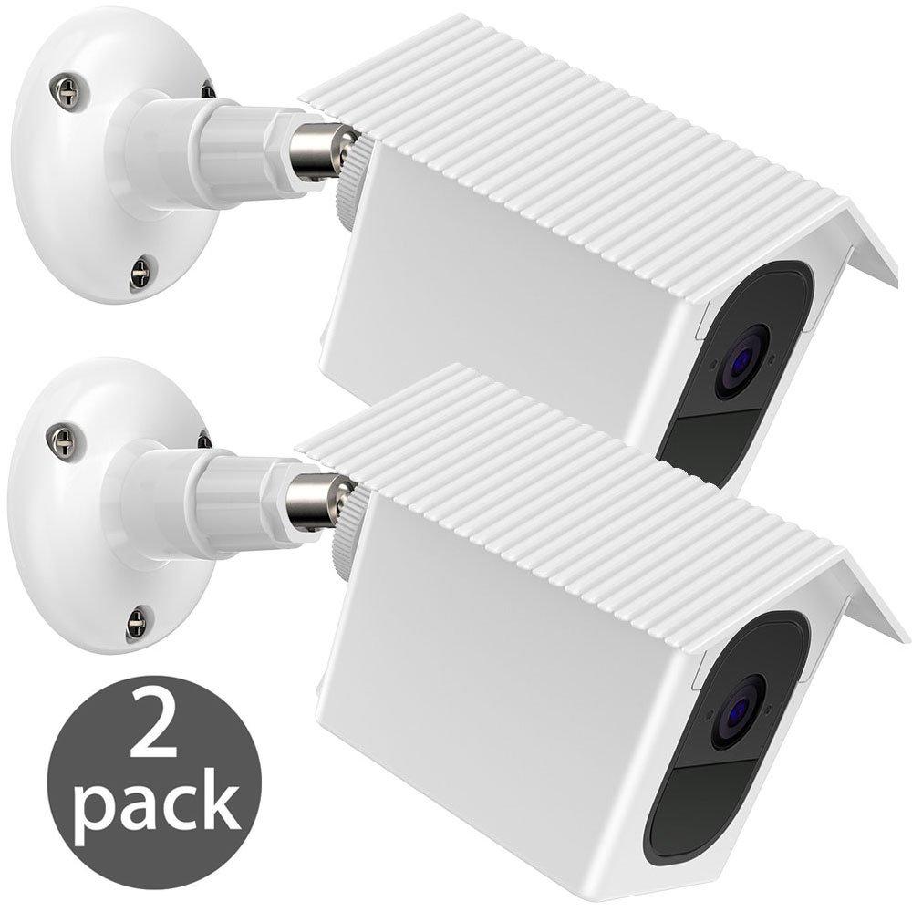 EEEKit Arlo Pro 2 / Pro Wall Mount Bracket, 2-Pack Weather Proof 360 Degree Protective Adjustable Indoor/Outdoor Mount Cover Case for Arlo Pro 2/Pro Security Camera