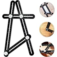 Angleizer Measuring Ruler, Alacrit Aluminum Alloy Multi-Angle Upgraded All-Metal Knobs Laser Etched Angleizer Template Tool for Handymen, Builders, Tilers, Craftsmen, Carpenter and Architect