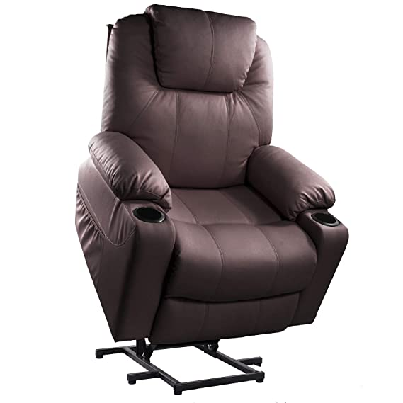 Amazon.com: Furgle Power Lift Recliner Chair with Heating ...