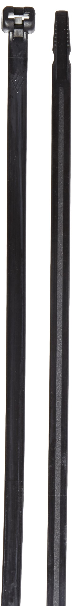 Cable Tie with Stainless Steel Barb, 120 Tensile Strength, 14'' Length, Black