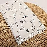 ONECHANCE Cotton Linen Blend Fabric by The Metre DIY Material Floral Pattern 100x150cm Color Sailboat Size 1 metre