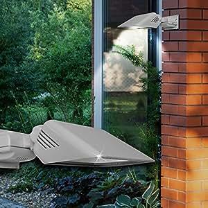 Pared Foco exterior ø180mm/LED/plata/aluminio/Foco Luz