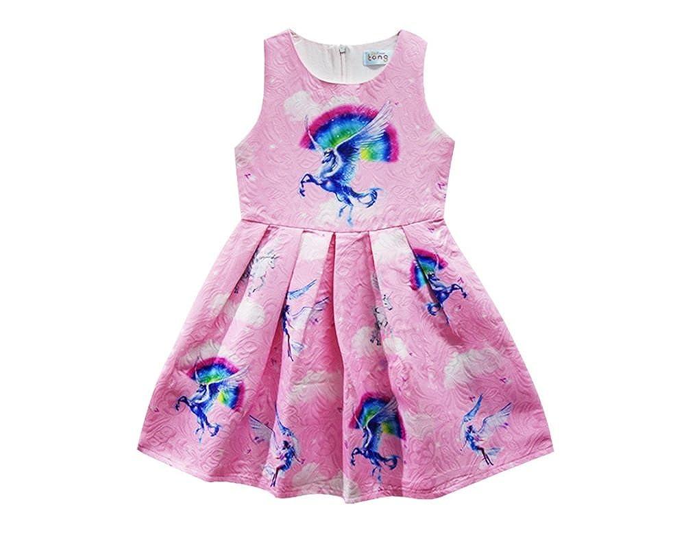 4915d676e199 Amazon.com: Summer Dresses for Girls Pink Cute Unicorn Summer Clothes for  Teen Girls Cheap: Clothing