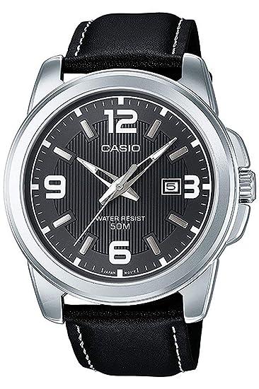 1157f395e87c Casio Reloj Analógico para Hombre de Cuarzo con Correa en Cuero MTP-1314PL-8AVEF   Amazon.es  Relojes
