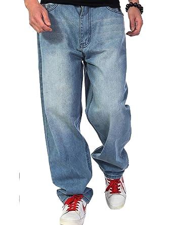 b0b5b24d Aishang Men's Skateboard Jeans Hip-hop Baggy Pants Denim Assorted at ...