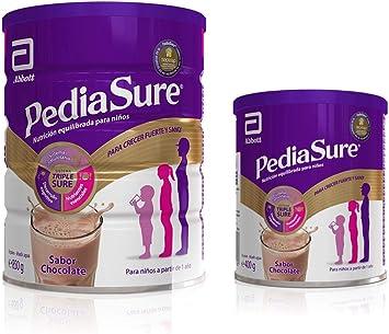PediaSure Pack de 2 Complementos Alimenticios para Niños, Sabor Chocolate, con Proteínas, Vitaminas y Minerales - 400 gr + 850gr