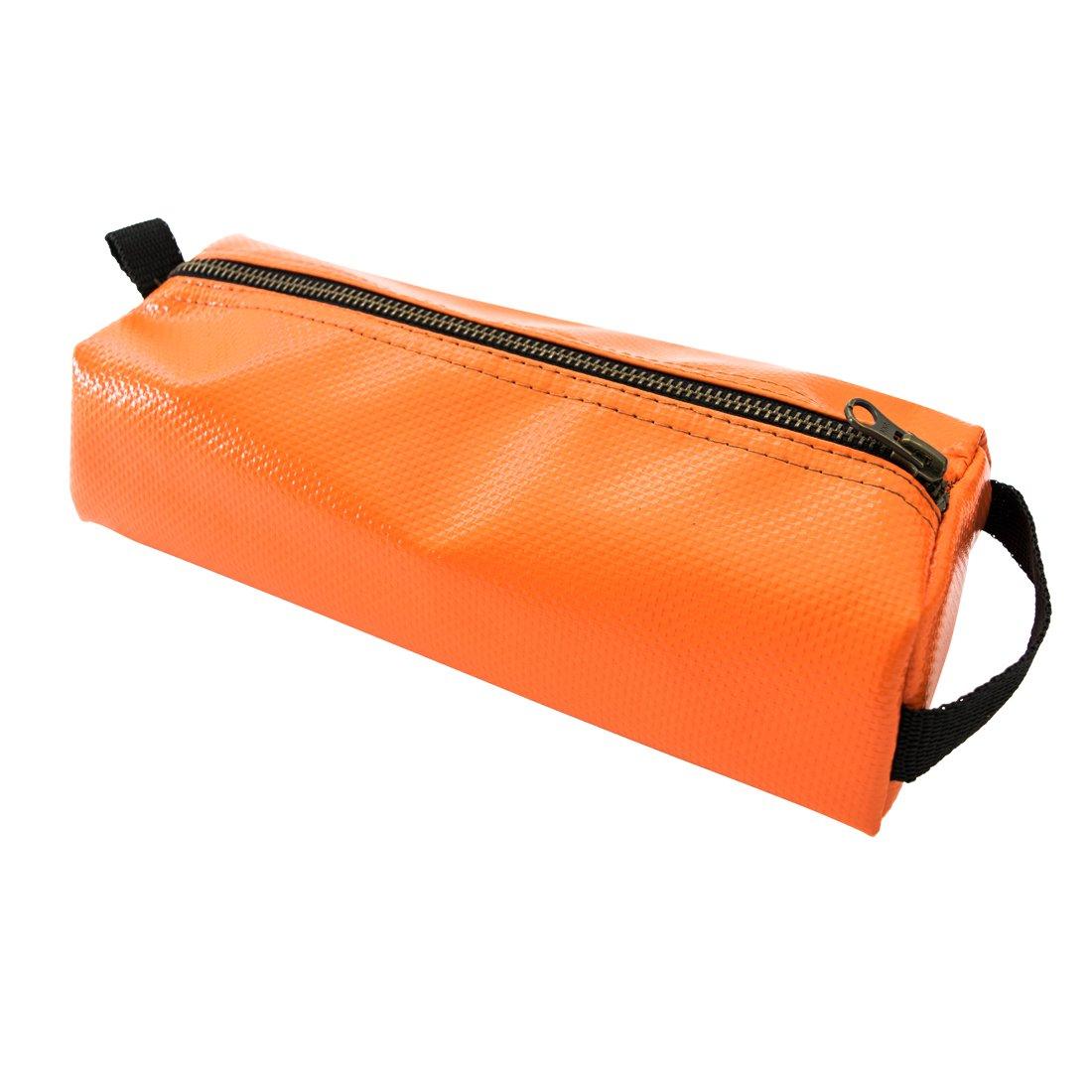 Vinyl Canvas Tool Pencil Case Pouch Handmade by Hide & Drink :: Orange   B01J4533EG