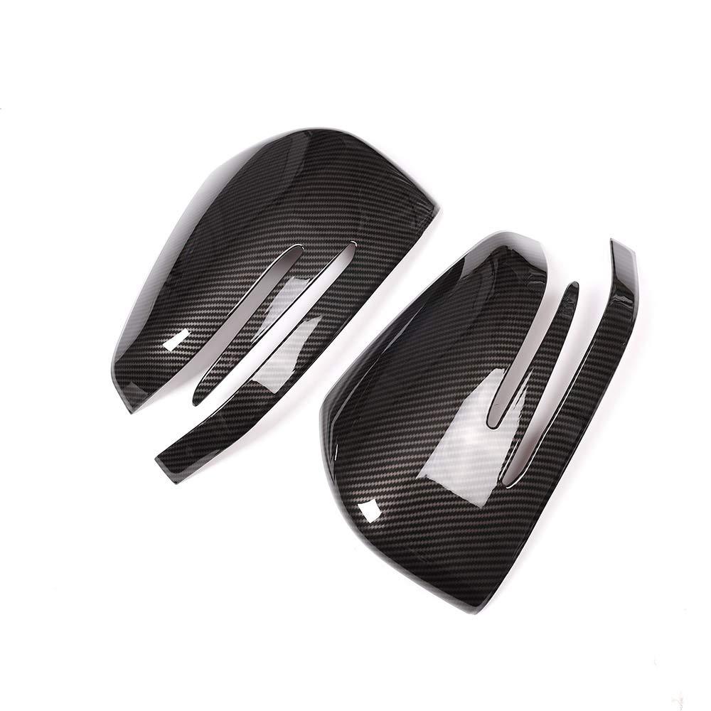 2x Carbon Fiber Chrome Car ABS Side Rearview Mirror Cap Cover Trim For benz ML GL 2013-2016 GLE GLS Class 2015-2017
