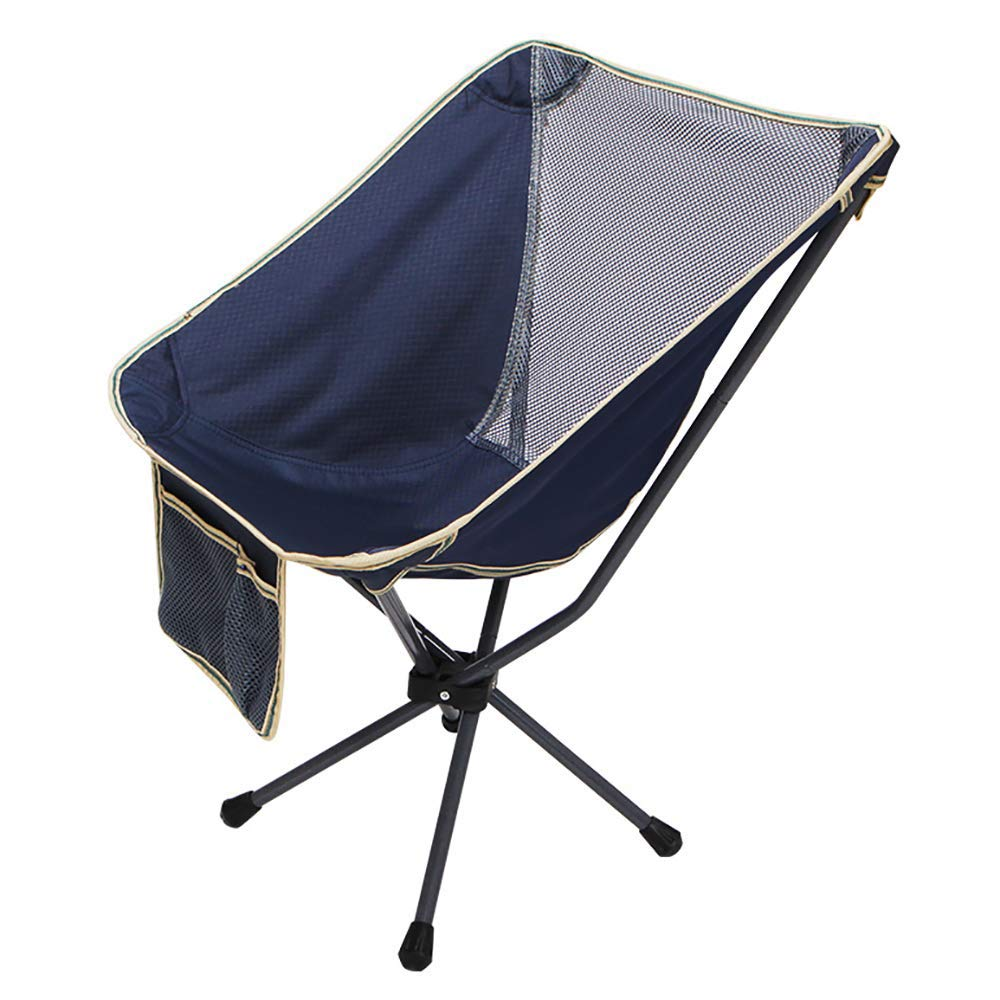 Camp Folding Breathable Chair Aluminum Ultralight Portable Chairs with Armrest for Festival, Beach, Hiking-Washblue by BSDBDF