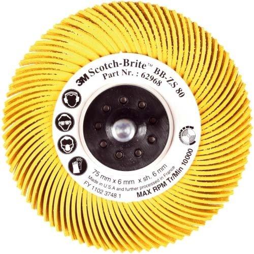3M BB-ZB radiale Schleifbürste Bristle, Typ C, Korn220, Durchm. 76 mm Farbe rot