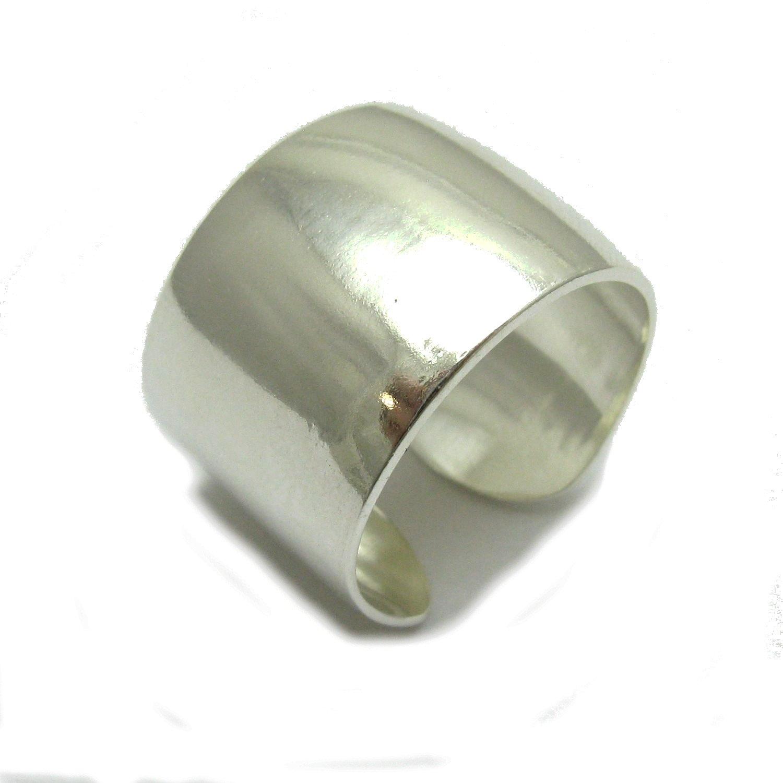 Anello fascia in Argento 925 banda larga R000755