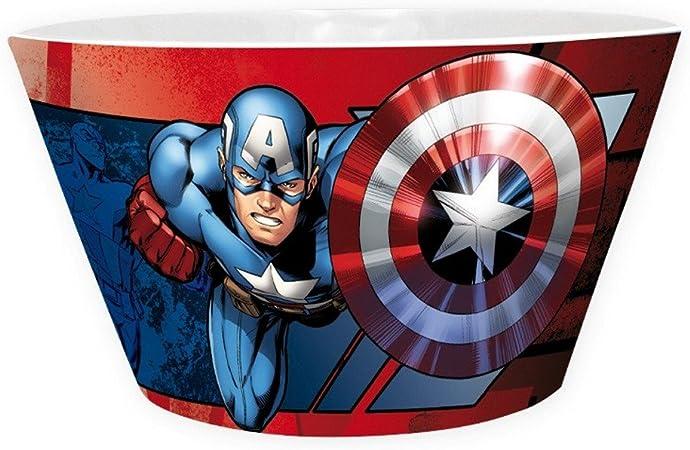 Marvel Comics – Cerámica Cuenco Cuenco para cereales – Iron Man VS Captain America – Caja de Regalo: Amazon.es: Hogar