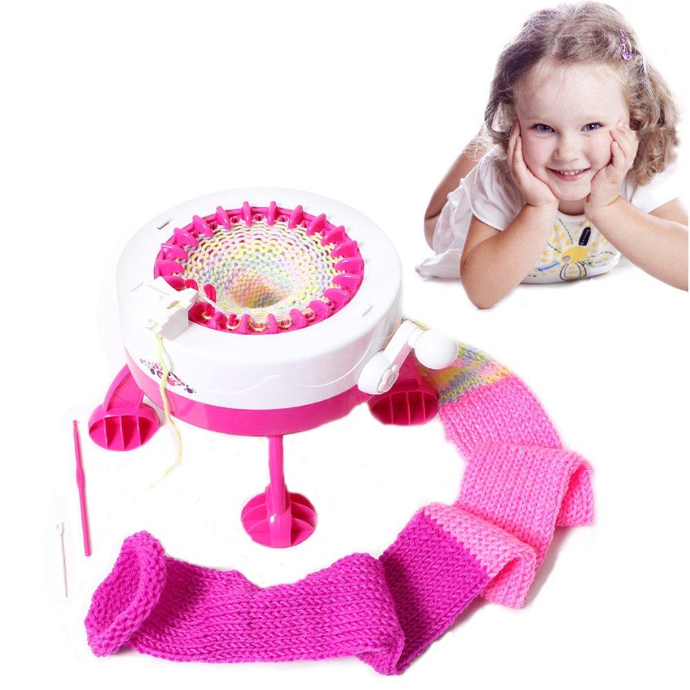 Careshine Child Knitting Machine, DIY Yarn Child Weaving Loom Toy Fashion Craft Sweater Circular Knitting Machine