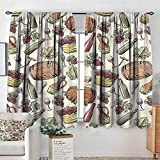 familytaste Winery,Nursery/Baby Care Curtains Viticulture Grapevine Barrel 104'x96' Indo Treatment Panes