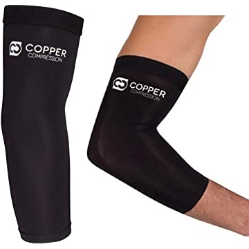 best Copper Compression Recovery Elbow Sleeve - GUARANTEED Highest Copper Elbow Brace For Tendonitis reviews