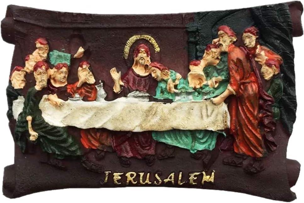 The last supper of Jesus Jerusalem Israel 3D Fridge Magnet Resin Handmade Craft Tourist Travel City Souvenir Collection Letter Refrigerator Sticker