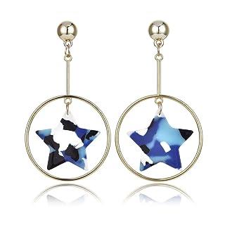 Mix color cielo stellato orecchino camouflage Star resina moda gioielli regalo per donne ragazza
