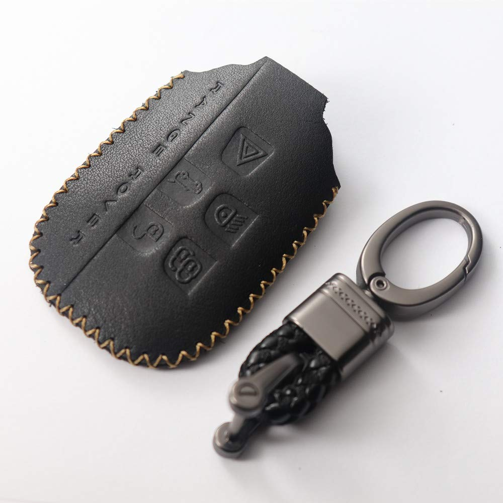 L-TAO Genuine leatherCar Key Cover Key Case Bag for Land Rover Range Rover Sport Freelander 2 Discovery 4 Evoque for Jaguar XE XJ XJL XF Key Cover