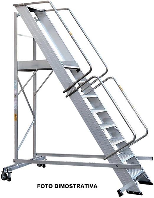 Escalera a Castillo, de aluminio, Norma En 131/7, peldaños 10: Amazon.es: Hogar