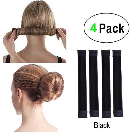 acheter mieux plus gros rabais les ventes en gros Lot de 4 accessoires de cheveux pour faire des chignon faciles, des queues  de cheval, Parfaits pour l'école, la vie quotidienne, le yoga, la danse, ...