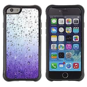 WAWU Funda Carcasa Bumper con Absorci??e Impactos y Anti-Ara??s Espalda Slim Rugged Armor -- emotional rain window sad purple -- Apple Iphone 6 PLUS 5.5