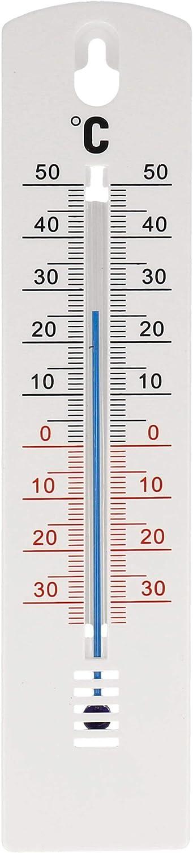 Lantelme Innen Au/ßen Garten Thermometer 20 cm Kunststoff schwarz Temperatur Analog 50 /°C Hauswand 8198 35 bis