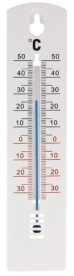 Analogique thermomètre intérieur extérieur de jardin 20 cm plastique blanc de fabrication allemande. température-affichage de 45 à + 50 °c