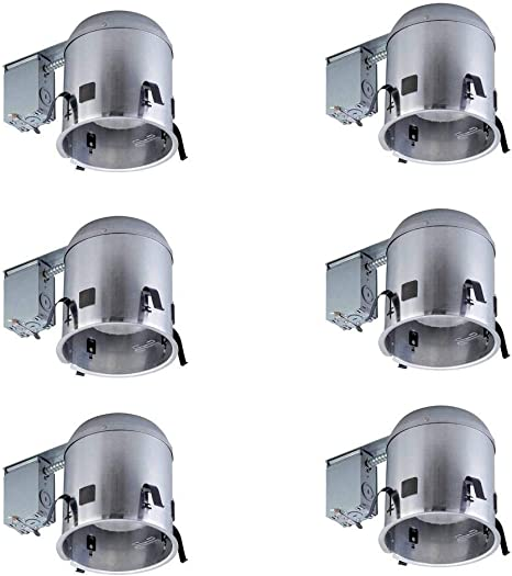 Commercial Electric 6 In Aluminum Ic Remodel Housing 6 Pack Amazon Com