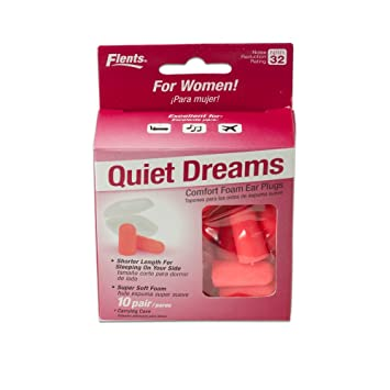 New! Quiet Dreams Comfort Foam Ear Plugs - 10 Pair + Carrying Case-special