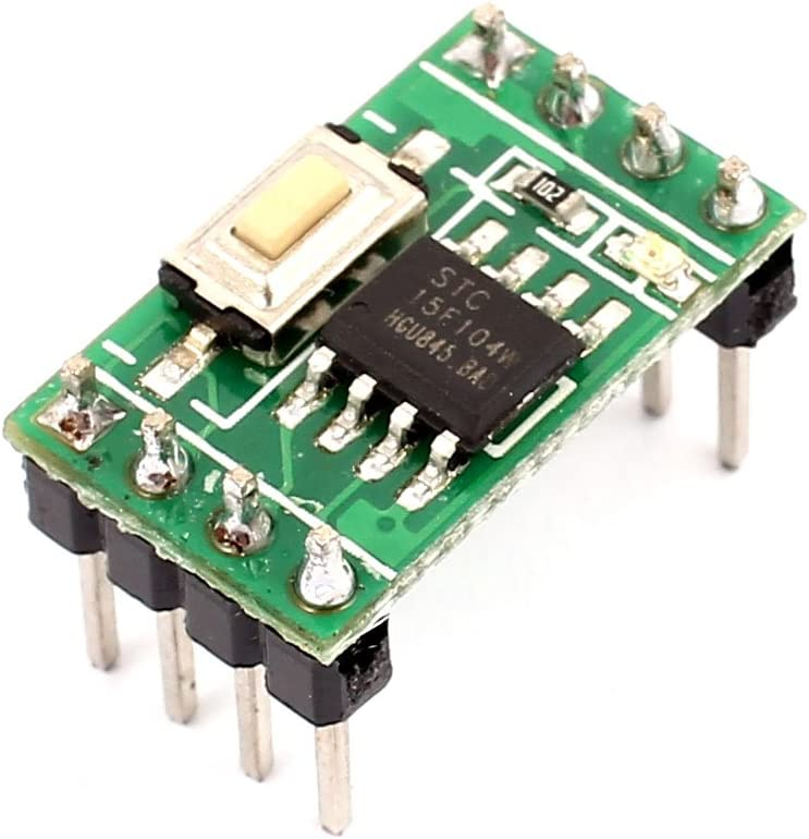 Aexit STC15F104E Microcontroller Fixed Resistors Module External Total of Resistor Chip Arrays Two-Way LED