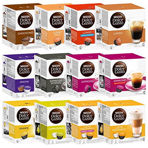 nescaf dolce gusto capsules all inclusive set 12 packs. Black Bedroom Furniture Sets. Home Design Ideas