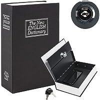 KYODOLED Book Safe with Key Lock, Portable Metal Safe Box, Dictionary Diversion Book Safe,Secret Book Hidden Safe,9.5…