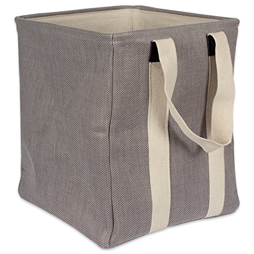 DII Heavy Duty Canvas Laundry Bag or Hamper Perfect In Your Bedroom, Nursey, Dorm, Closet, Laundry Room, For Clean and Drity Clothes and Home Organization, 14 x 14 x 16