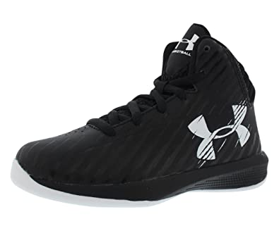 black and white under armour basketball shoes